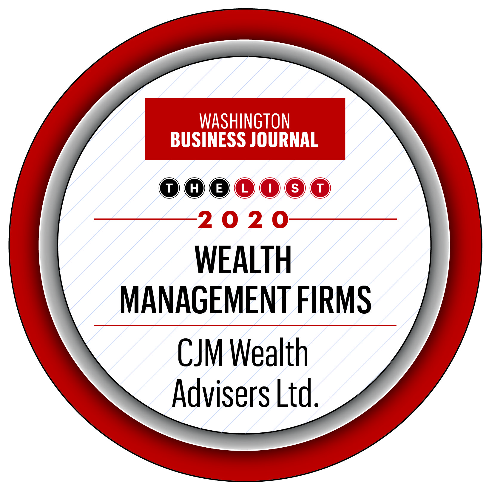 Washington Business Journal - The List - 2020 Wealth Management Firms